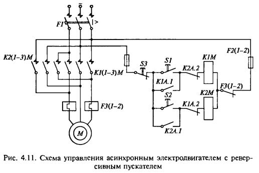 схема реверса асинхронных