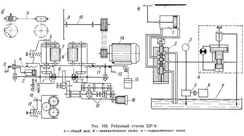 102, в показана гидросхема