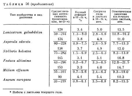 Особенности водного режима