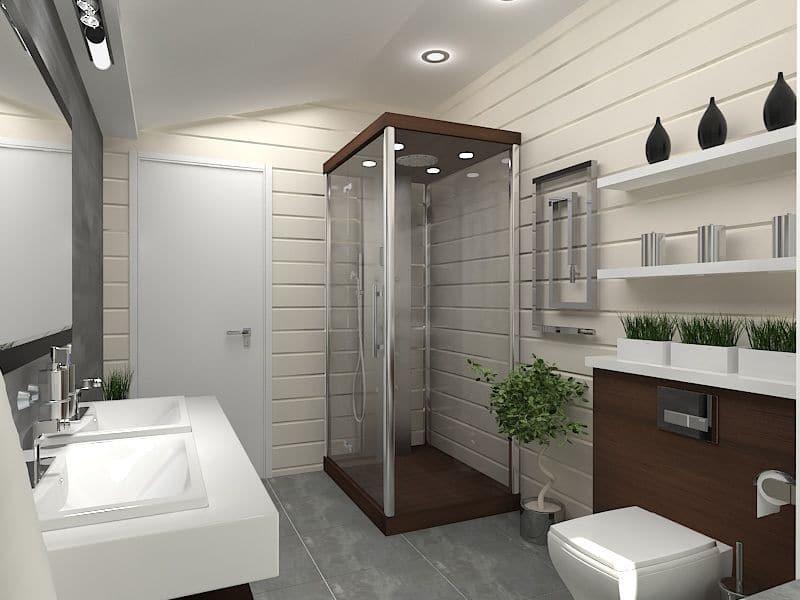 проект дизайн ванной комнаты фото